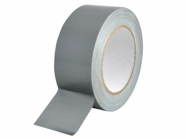 Fiel - Cinta de Gaffa para trabajos pesados, 50 mm x 25 m de plata