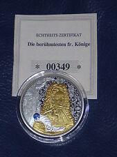 Medaille - Louis XIV 1638-1715, versilbert, Teilvergoldet und Swarovski, PP