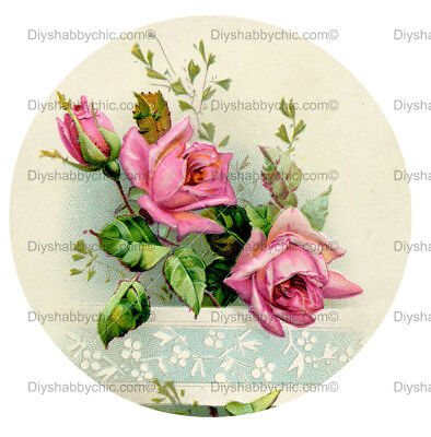 Furniture Decal Image Transfer Vintage Antique French Upcycle Rose Crown Frame