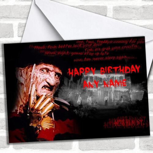 Freddy Krueger Birthday Customised Card
