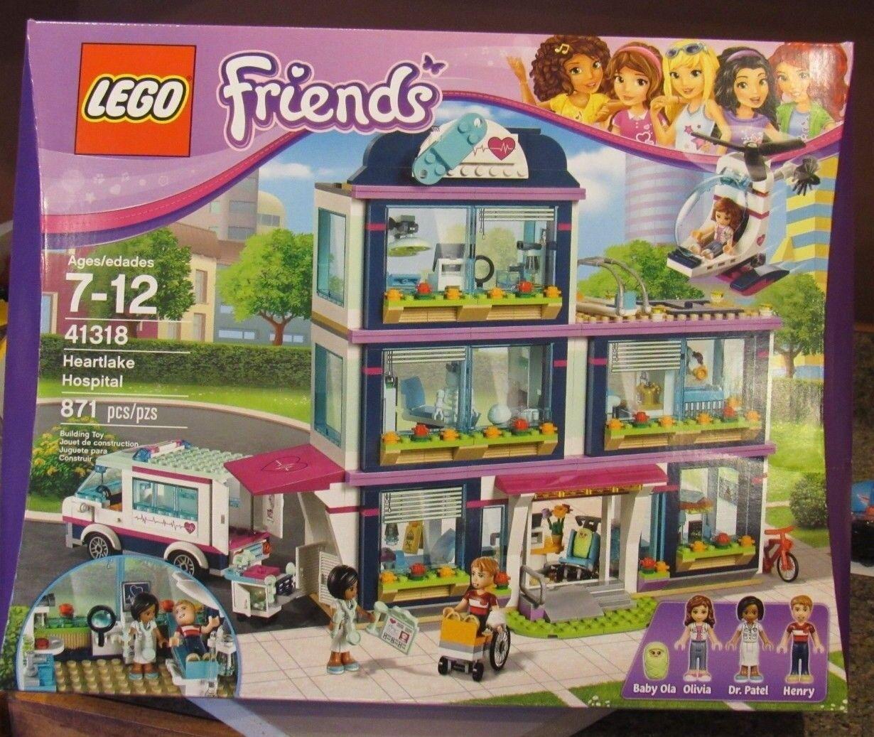 LEGO Friends Heartlake Hospital 41318 Baby Ola, Dr Patel Brand New & Sealed