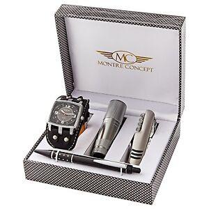 Coffret-cadeau-montre-Homme-lampe-de-poche-couteau-multifonction-stylo-0068