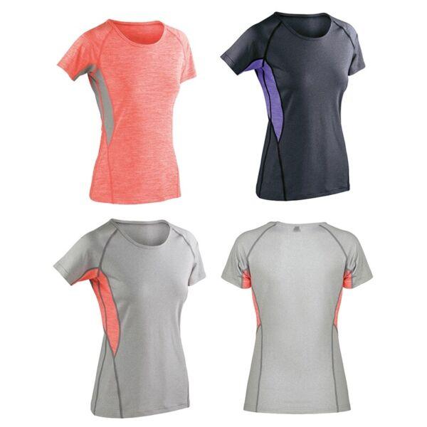 Damen Funktionsshirt Sport T-Shirt Kurzarm Fitness XXS-XXL SPIRO S270F NEU