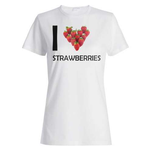 I Love Strawberries  Ladies T-shirt//Tank Top gg69f