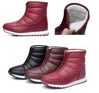Neu Winter Damen Schnee Ski Stiefel Wasserdicht Gummisohle Warm Schuh Größe