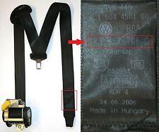 VW Golf Mk5 3 Door Seat Belt Drivers Side Front Safety Belt Black 1K3 857 706 C