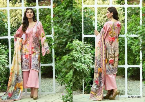 Cotton Uncitched Salwar gul Fwarous Suit charizma Eid Kameez Print sana Emb AcpEP