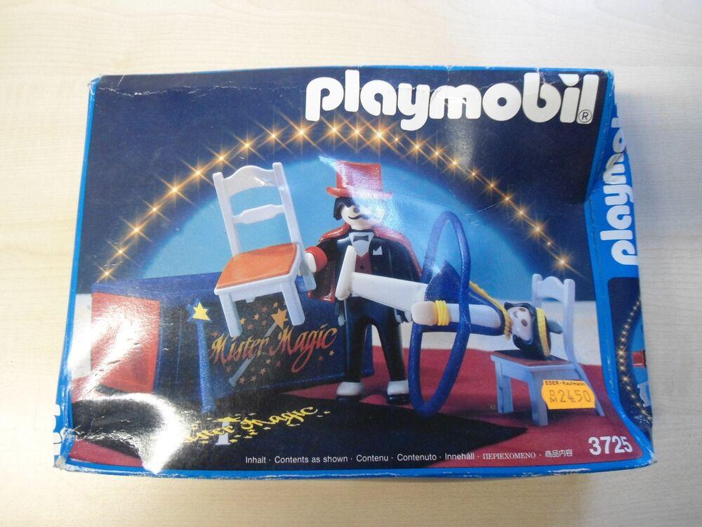 """Playmobil Set 3725 """"magicien"""" Rare/neuf"""