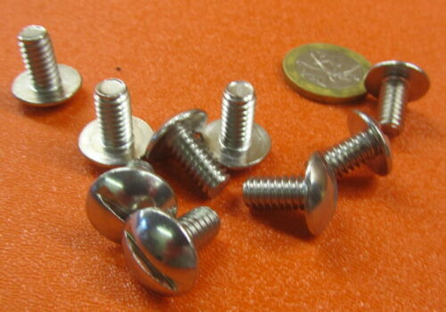 "Truss Head Stainless Steel Slotted Screw 1//4-20/"" x 1//2/"" Length 50 Pcs"