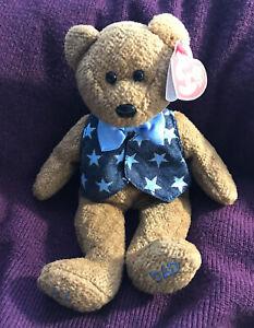 RETIRED Ty Original Beanie Babies All-Star Dad Bear 2005 TAGS