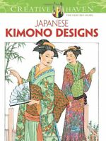 Coloring Book Adults Japanese Clothes Kimono Design Relax Activity Anti Stress