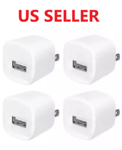 4x-White-1A-USB-Power-Adapter-AC-Home-Wall-Charger-US-Plug-FOR-iPhone-5-6-7-8
