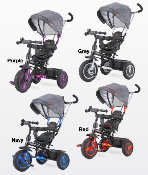 Caretero Toyz Buzz Dreirad für Kinder Fahrrad Kinderwagen Kinderdreirad