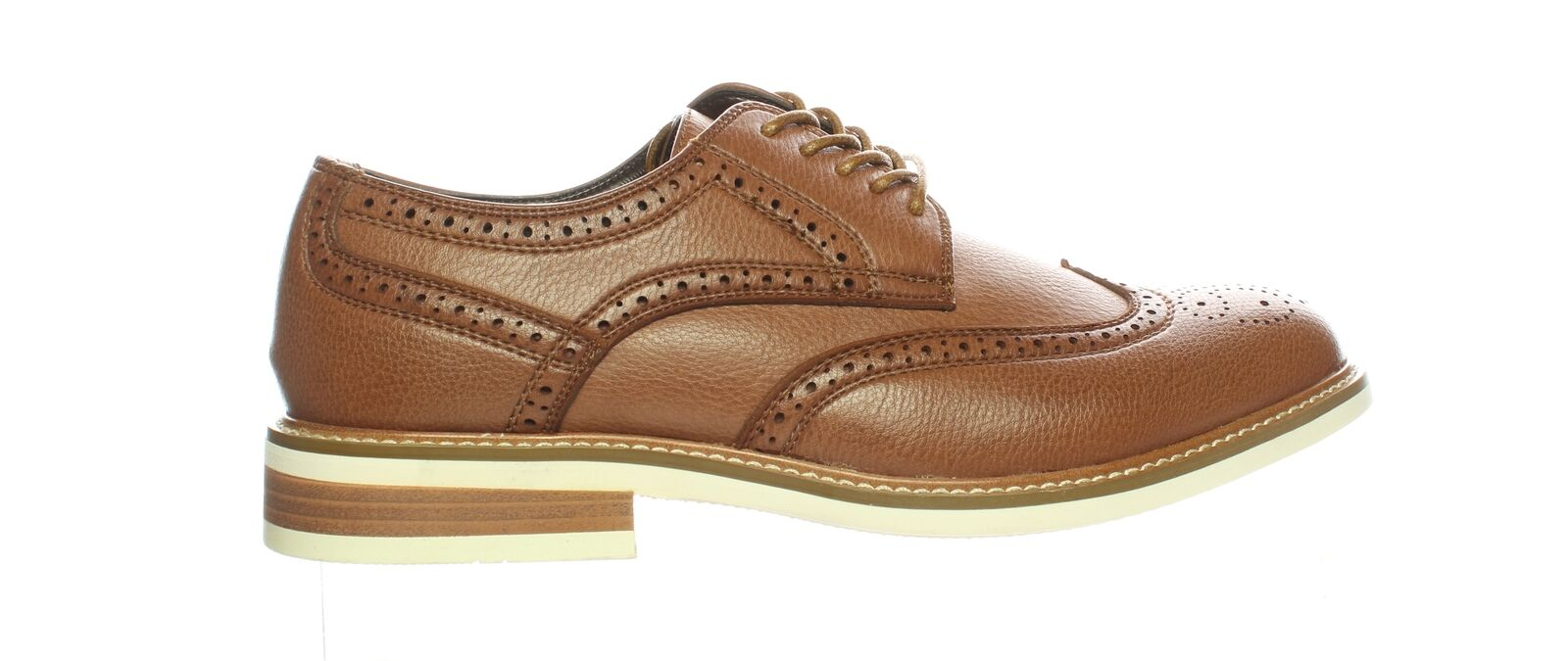 Unlisted by Kenneth Cole Mens Jimmie Cognac Wing Tips Size 8 (1550518)