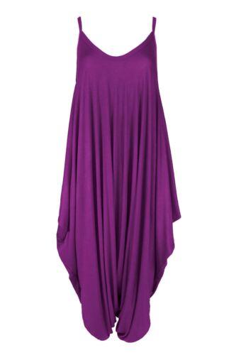 Donna Cami Con Cinturini Larghi Lagenlook Harem Tutina Tuta Dress Top