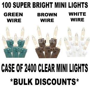 Case 2400 Outdoor Mini Light String Lights - 24 Ensembles De 100 Clair Mini Lumières-afficher Le Titre D'origine Achat SpéCial