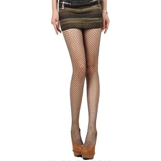 Black Fashion Women Sexy Socks Mid Fishnet Net Mesh Pantyhose Stocking Tights