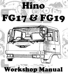 Details about HINO TRUCKS FG17 & FG19 WORKSHOP SERVICE REPAIR MANUAL  DIGITAL DOWNLOAD
