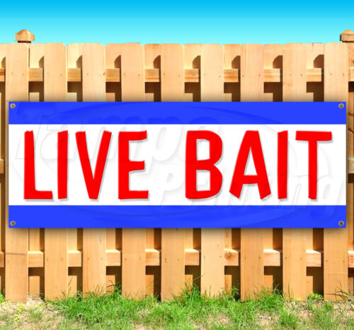 LIVE BAIT Advertising Vinyl Banner Flag Sign Many Sizes Available USA