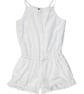 67a000faed Image is loading RALPH-LAUREN-Girls-white-embroidered-PLAYSUIT-12-13Y-