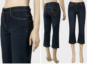 Nouveau-Femme-cropped-denim-jeans-Ex-UK-Chainstore-3-4-Pantalon