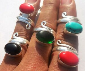MODERN-JEWELRY-WHOLESALE-LOT-5PC-925-STERLING-SILVER-OVERLAY-RING