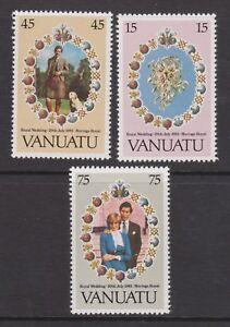 1981-Mariage-Royal-Charles-amp-Diana-neuf-sans-charniere-Stamp-Set-Vanuatu-SG-315-317