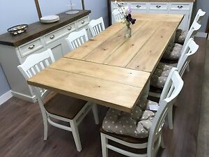 Image Is Loading FARMHOUSE TABLE EXTENDABLE 5ft To 8ft 6 8