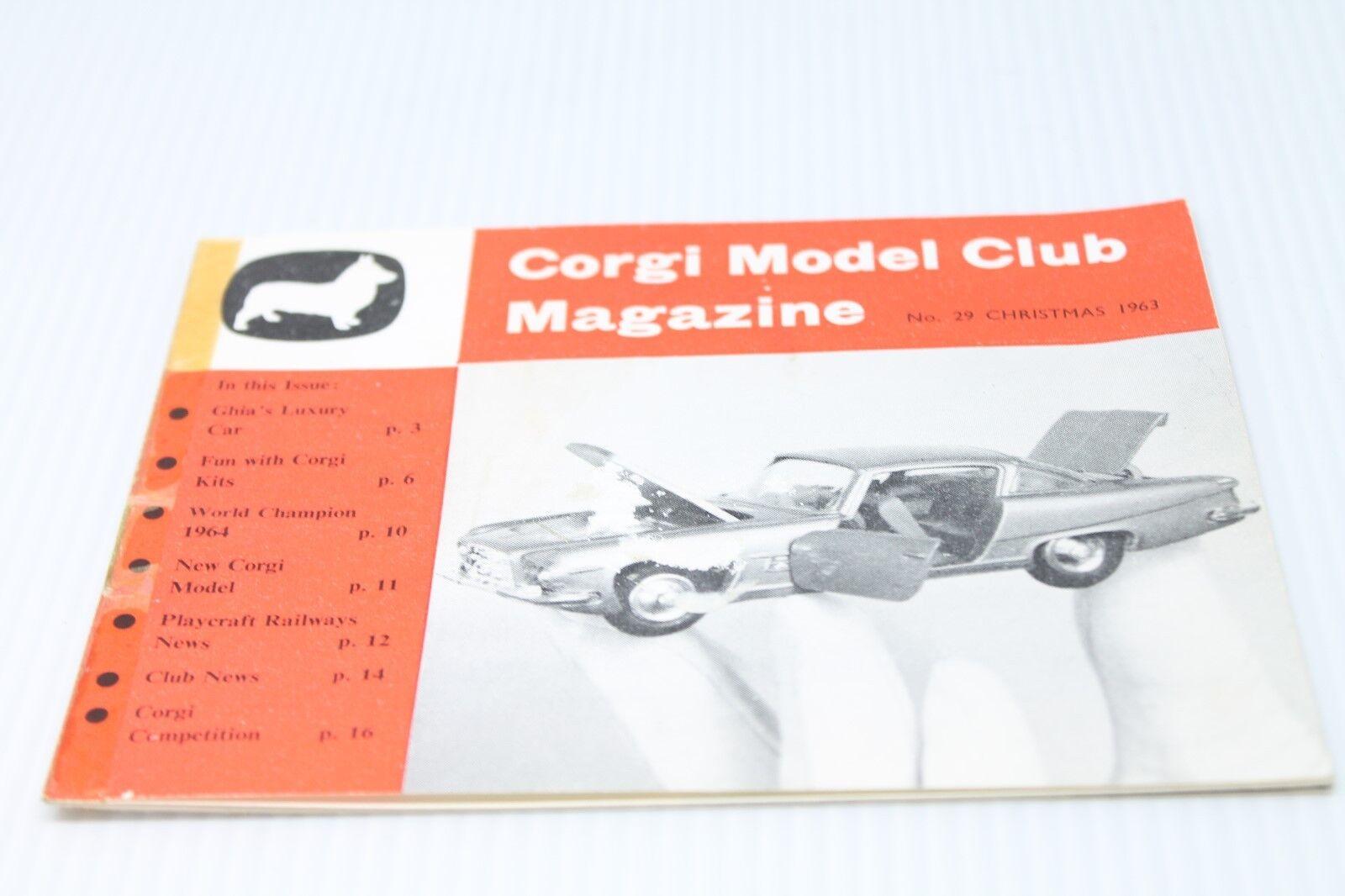 CORGI TOYS  Model Club Magazine  Christmas 1963  RAR