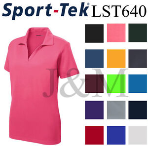 Sport-Tek-LST640-Womens-Dri-Fit-Performance-Polo-Casual-Golf-Shirt-Dry