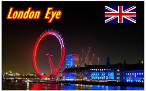 LONDON HARRODS SIGHTS // FLAGS // NEW // GIFTS SOUVENIR NOVELTY FRIDGE MAGNET