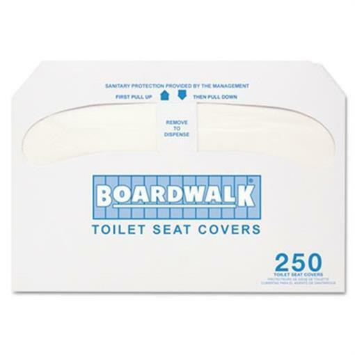 Boardwalk Premium Half-Fold Toilet Seat Covers 250 Covers-Box 20 Boxes-Carton
