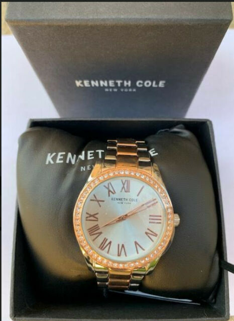 NEW IN BOX & TAGS - Women's Kenneth Cole Two Tone Crystallized Watch KCC0184005