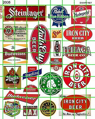 2006 DAVE/'S HO DECALS BEER TAVERN BAR ADVERTISING SIGNS FOR BUILDINGS STORES