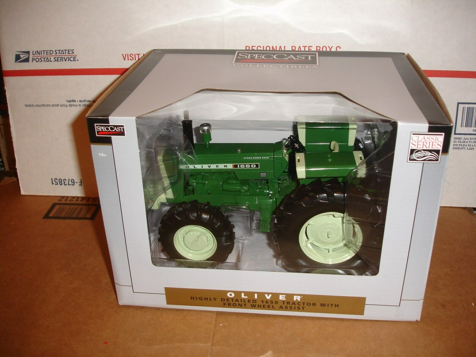 1 16 oliver 1650 with fwa toy tractor