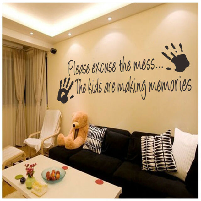 Excuse The Mess Kids Are Making Memories Wall Quote Decal Vinyl Sticker Nursery