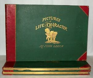Mr-Punch-1st-5th-series-Pictures-of-life-and-character-3-Books-1869-LEECH