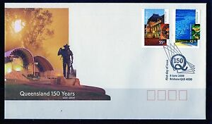 2009 Australia Queensland 150 Years Set Of 2 FDC, Mint Condition