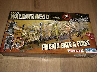Angemessen The Walking Dead Prison Gate & Fence Building Set Mcfarlane Toys Neu 192 Teile GroßEs Sortiment