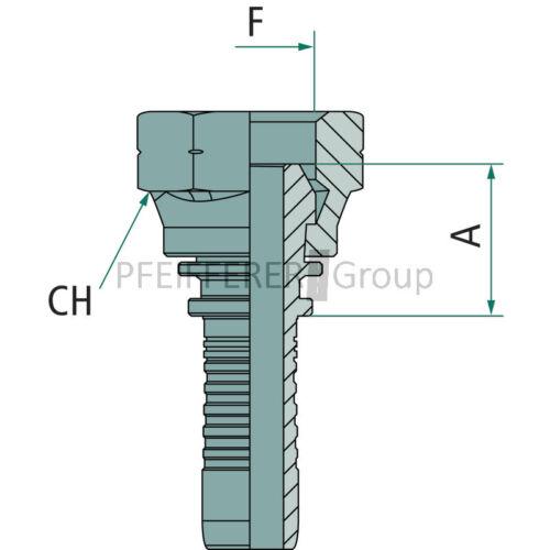 Pressnippel DKM metrisch PN 06 DKM M12x1.5