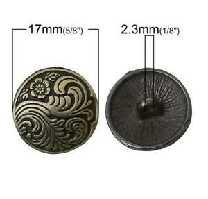 5PCS-Metal-Round-Flower-Carving-Shank-Buttons-Coat-Sewing-Craft-DIY-New-17MM-26L