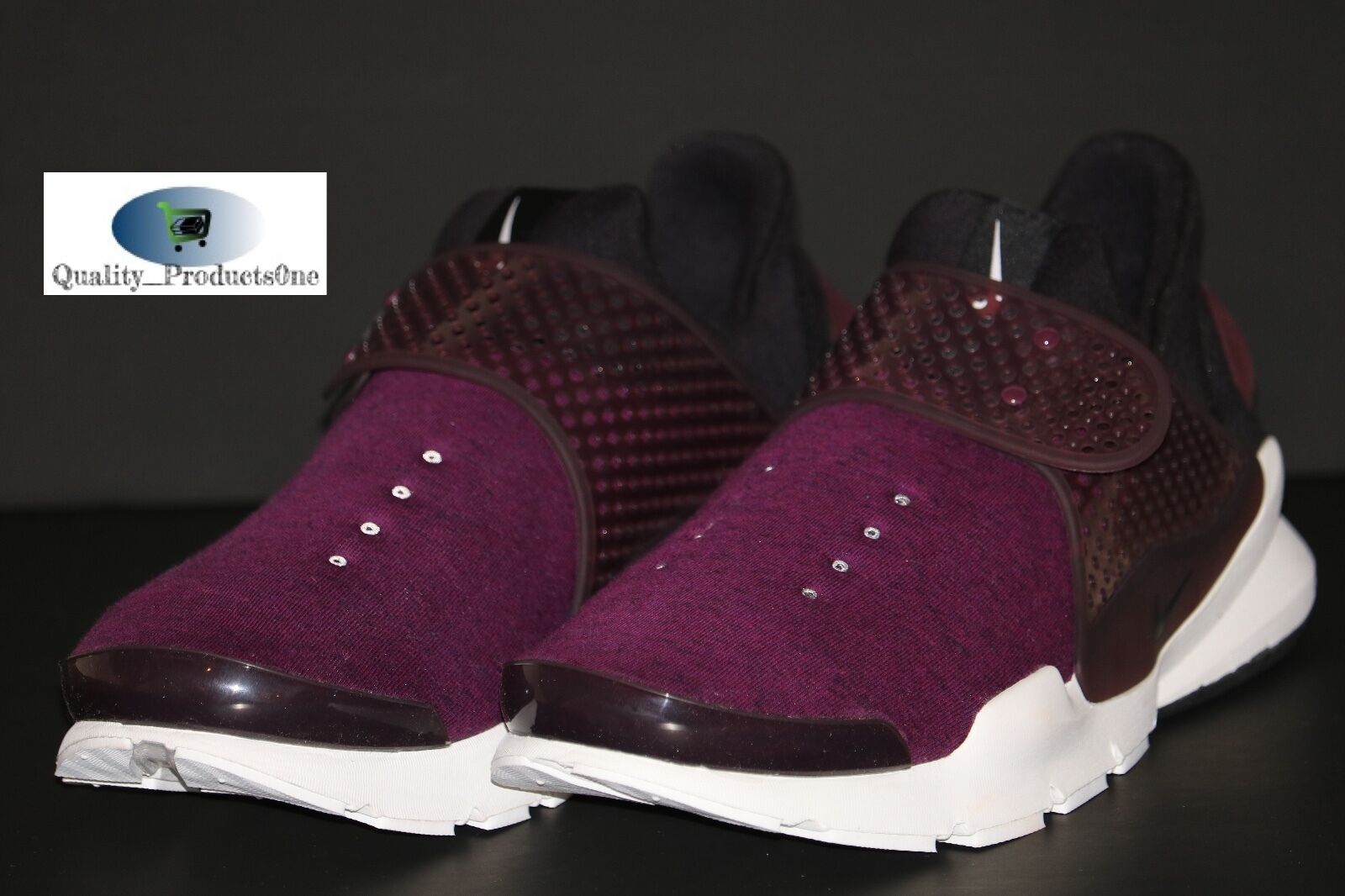 Mens Nike Nikelab Sock Dart Tech Fleece Mullberry/Black 834669-501 Size 9