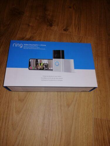 Bague vidéo sonnette 3 avec carillon Brand New Boxed