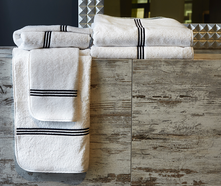 Signoria Firenze Trilogy Luxury Towel Hand Towel - Weiß Taupe - Set of 4