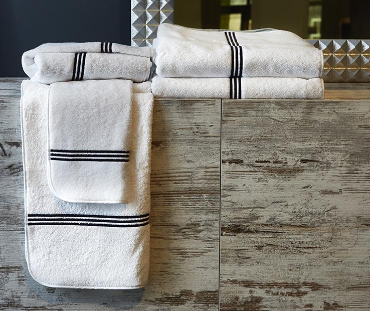 Signoria Firenze trilogie de luxe serviette serviette de bain-ivoire Ivory-Lot de 4
