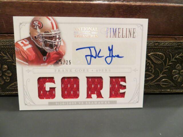 National Treasures Timeline Auto Jersey Autograph 49ers Frank Gore 15/25  2013