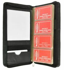 Genuine Leather 160 Cards Business Name Id Credit Card Holder Book Case Keeper O