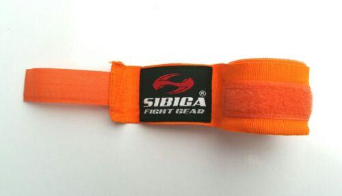 Sibiga Elastic Muay Thai Hand Wraps 5m Orange