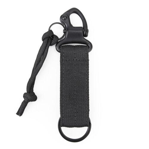 Tactical Nylon Belt Metal Hang Carabiner Backpack Hook Clasp Survival Gear