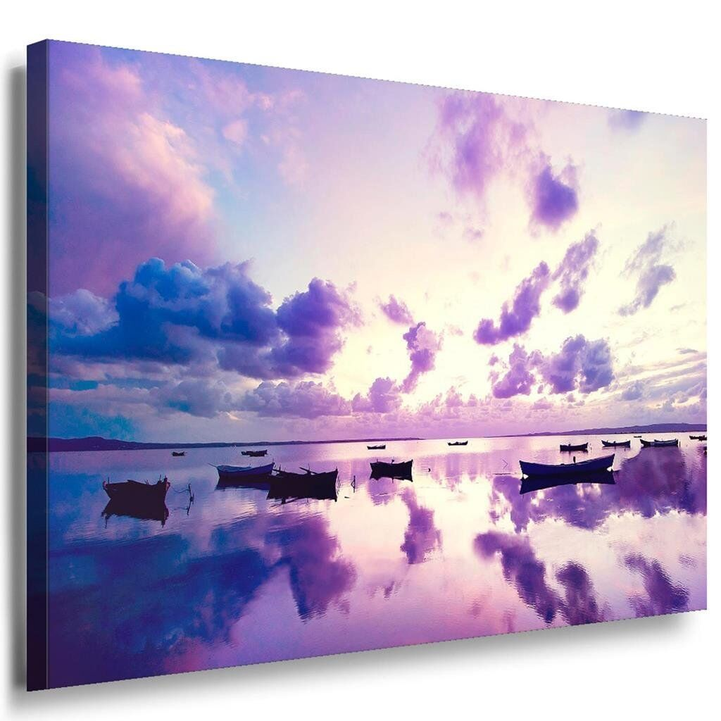 Natur Lila Wolken See Leinwandbild   LaraArt Bilder   Leinwand Bild + Mehrfar...